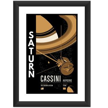 Quadro Planeta Saturno Sistema Solar Nasa Cassini Huygens