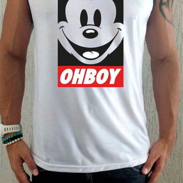 ee66cbd97d Camiseta Regata Mickey Oh Boy