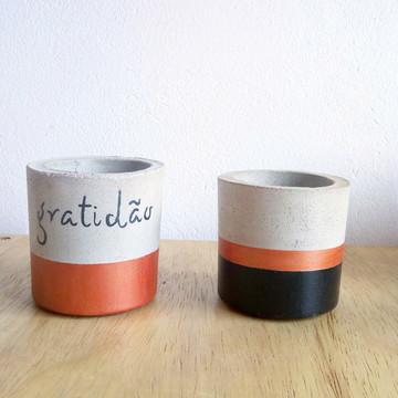 Kit Gratidão 2 vasos