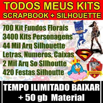Todos Meus Kits Digitais Scrapbook e Silhouettes + 50 gb