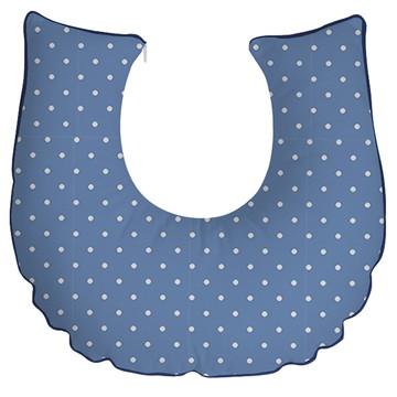 almofada de amamentação poá azul