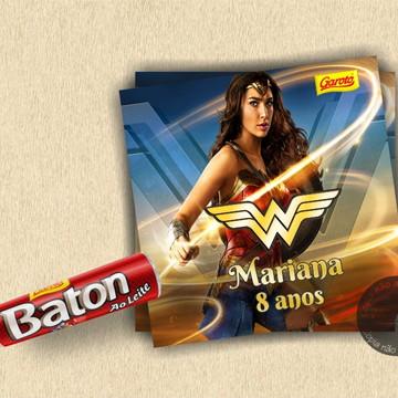 Adesivo para Baton Mulher Maravilha