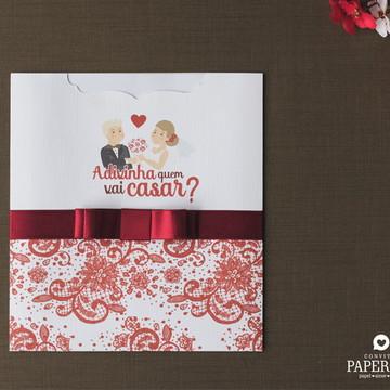 Convite de Casamento Divertido Marsala