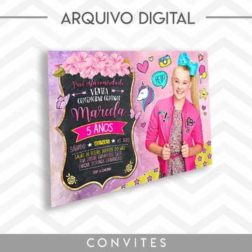 Convite JoJo Siwa - Arquivo Digital