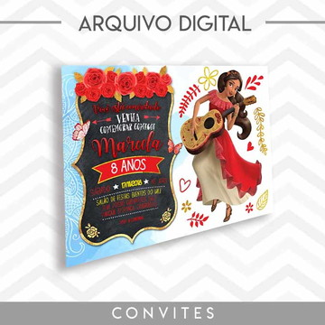 Convite Elena of Avalor - Arquivo Digital