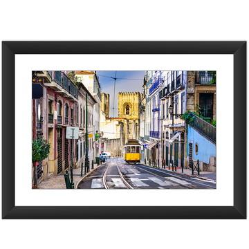 Quadro Portugal Lisboa Bonde Amarelo Rua Decorar Cidade Sala