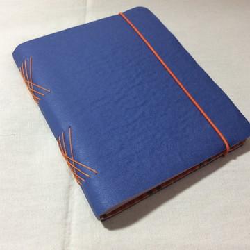 Caderno em Couro Ecológico- AZUL