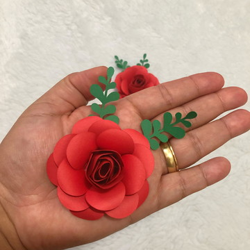 Mini rosa de Papel 6 cm
