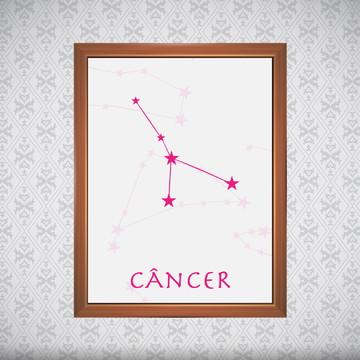 Quadro - Signos Câncer - 30x40cm