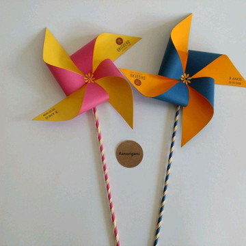 Kit Cata vento de papel
