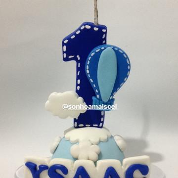 Balão vela número decorado