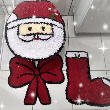 Tapete de natal decoração do banheiro papai noel