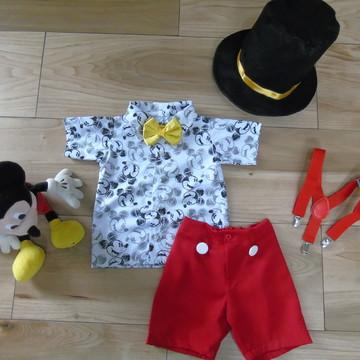 Fantasia Mickey, roupa mickey, mickey magico