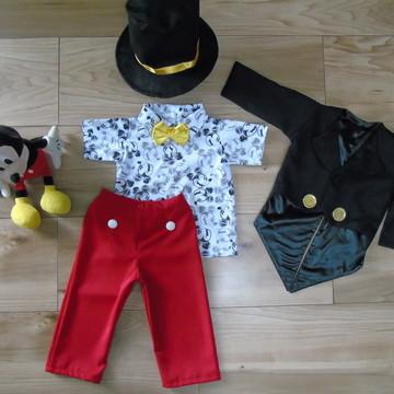Fantasia Mickey Magico Super Luxo roupa mickey