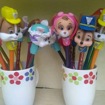 Ponteiras para lápis Patrulha Canina biscuit