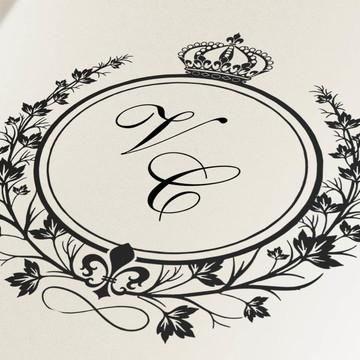 Monograma digital para casamento