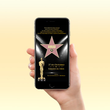 Convite Digital Whatsapp - Oscar