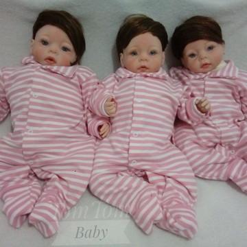 Bebê Reborn trigemeas