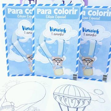Revistinha Colorir Ursinho Baloeiro Balões