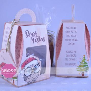 #0445 : Caixa para mini panetone - Boas Festas Professora