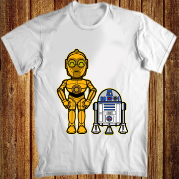 Camiseta star wars robos