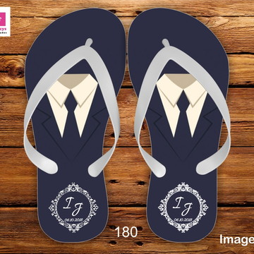 2219d65b0b Chinelo do Noivo Masculino Casamento Sacola Personalizada