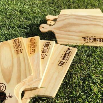 Tábuas de madeira personalizadas