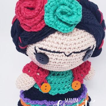 Amigurumi: Boneca de crochê Frida Kahlo