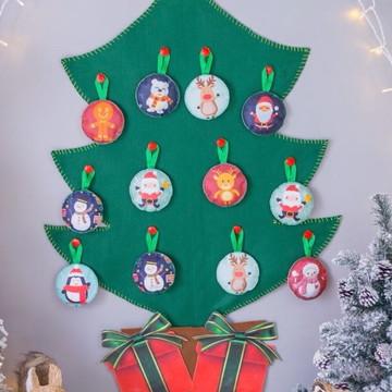 Árvore de Natal em feltro Montessori