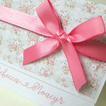 Convite de casamento rosa barato