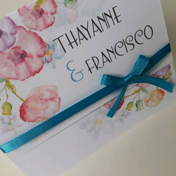 Convite de casamento Tiffany barato