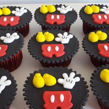Aplique pasta americana Mickey para cupcake