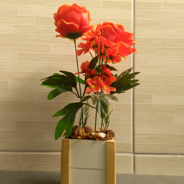 Arranjo de Rosa artificial Laranja