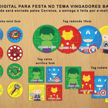 Kit Festa Digital Vingadores Baby