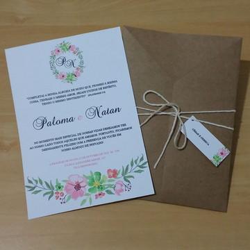 Convite Floral para Noivado