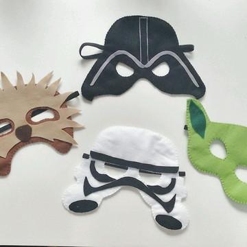 Kit Star Wars máscara e personagens