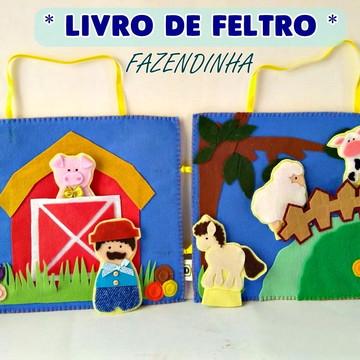 LIVRO DE FELTRO FAZENDINHA - com dedoches
