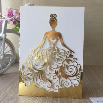Arquivo Corte Convite 15 Anos Princesa Vestido Rendado