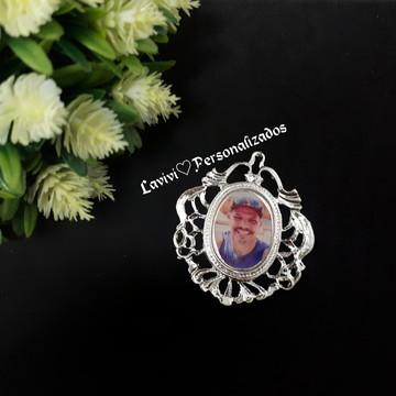 Medalha relicario com foto buque personalizado casamento