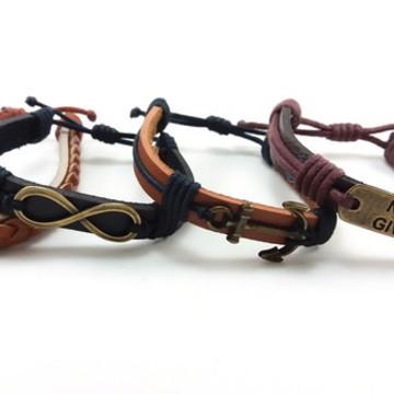 Kit 4 pulseiras masculinas