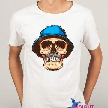 Camiseta Masculina Caveira Seu Madruga