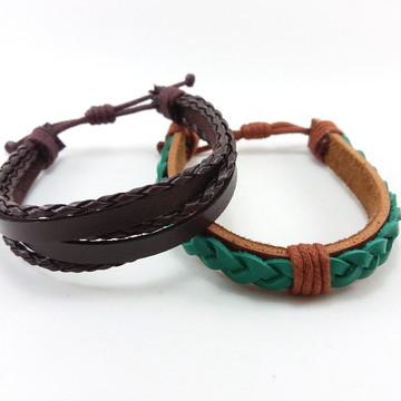 Kit 2 pulseiras masculinas
