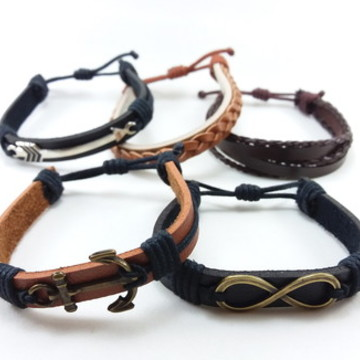 Kit 5 pulseiras masculinas