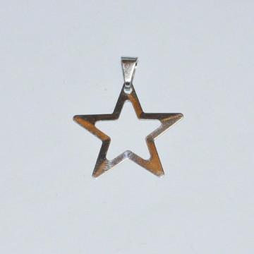 Estrela 5 pontas em aço polido dos 2 lados