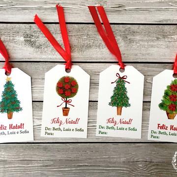 Natal: Tags para presentes De Para