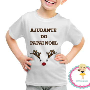Camiseta infantil 'Ajudante do papai noel'