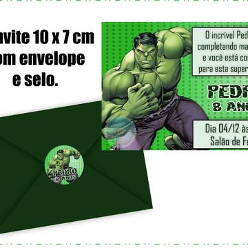 Convite do Hulk com Envelope