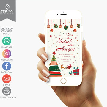 Convite Natal entre Amigos   DIGITAL