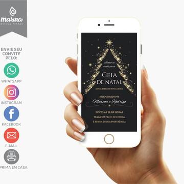 Convite Ceia Natal Chalkboard | DIGITAL