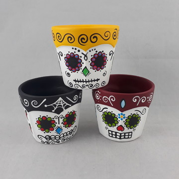 Trio de vasos Caveiras mexicanas P C.1068